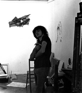 Me posing again in the first year painting studio.