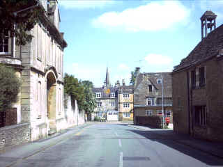 Priory Street into the High Street.