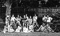 Residents & friends in garden of 40 High St. 1972/3